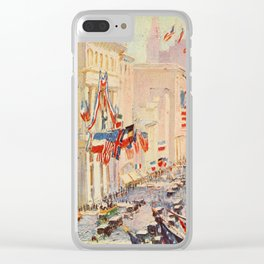 Heath, Alice - New York of Today 1917 - Wall Street Clear iPhone Case