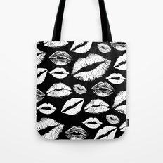 Lips BW Tote Bag