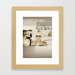TAXI DRIVER [MINIMAL MOVIE POSTER] Framed Art Print