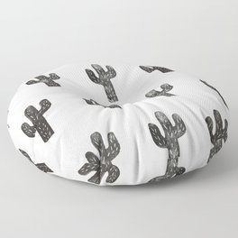 Stamped Cactus Floor Pillow