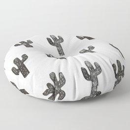 Stamped Cactus Floor Pillow