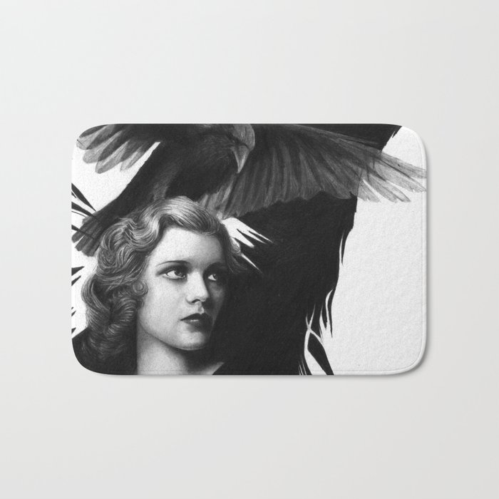Lady and the Raven Bath Mat