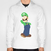 luigi Hoodies featuring Luigi by Valiant