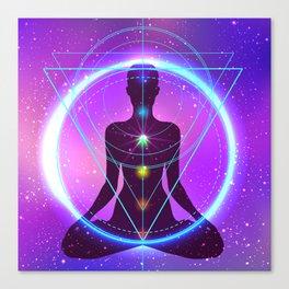 Yoga Meditation Energy, Sacred Geomertry, Zazen, Chakras, Kundalini Canvas Print