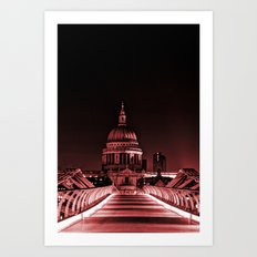 St.Paul's Cathedral in the Pink Art Print