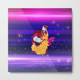 BEAUTY AND THE BEAST Metal Print