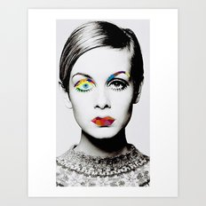 Twiggy Pop Art Art Print