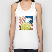 patriotic Tank Tops featuring Patriotic Eagle by whiterabbitart