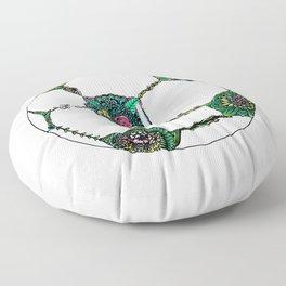 Floral Soccer Ball Floor Pillow