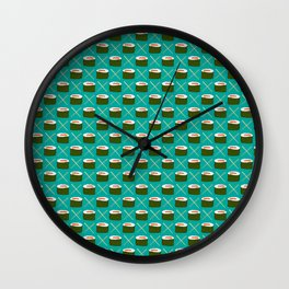Feed Me- Sushi Pattern Wall Clock