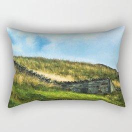 Painterly Fields Rectangular Pillow