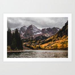 Maroon Bells, Aspen, Colorado Art Print