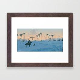 1920 -Iron fields Framed Art Print