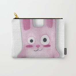 Watercolor Freezer Bunny Carry-All Pouch