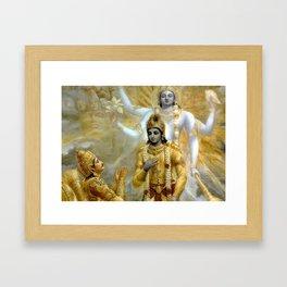Lord Krishna Hindu Poster Yoga Buddhism Meditation Orient Framed Art Print