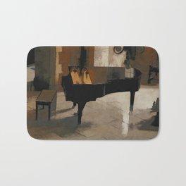 Grand Piano Artwork Bath Mat