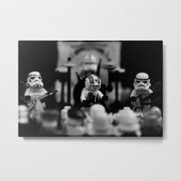 Rebel and the Stormtroopers Metal Print