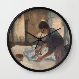 Woman Ironing Wall Clock