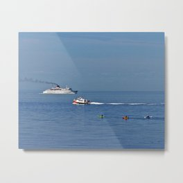Fun on the Sea Metal Print