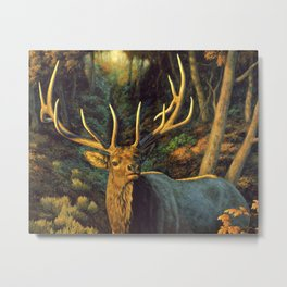 Bull Elk in Autumn Metal Print