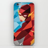 dc comics iPhone & iPod Skins featuring DC Comics Flash by Eric Dufresne