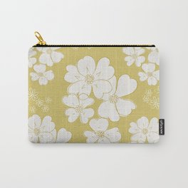 White thoughts on gold Carry-All Pouch