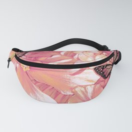 Coral Pink Hibiscus Fanny Pack