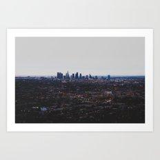 Los Angeles in fog Art Print