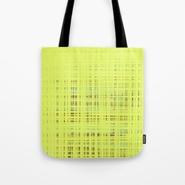 Multi-color squares on yellow background Tote Bag