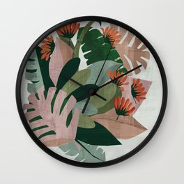 In amongst the jungle leaves Wall Clock