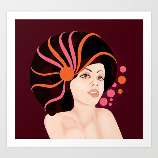 Snail Lady Art Print