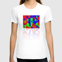 leah flores T-shirts featuring Flores by DARWIN STEAD