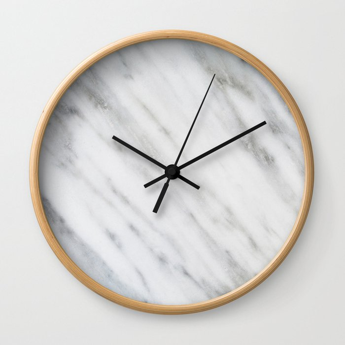 Carrara Italian Marble Wall Clock by cafelab | Society6