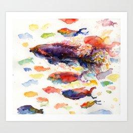 Fish Rainbow Art Print