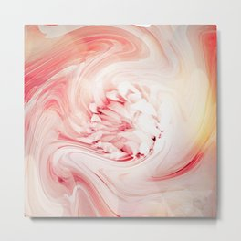 Shabby Chic Pastel Flower Abstract- Katie Inspired Metal Print