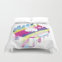 deadmau5 Duvet Covers featuring Urban Vinyl V2 by Sitchko Igor