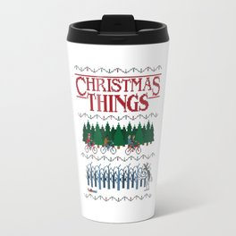 Christmas Stranger Things2 Travel Mug