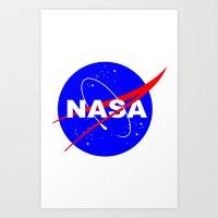 nasa Art Prints featuring Nasa logo by anto harjo