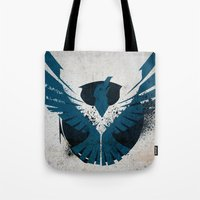 infamous Tote Bags featuring inFamous Second Son Good Karma 1 by Kyrsten Carlson