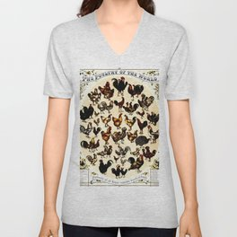 The Poultry of the World Unisex V-Neck
