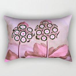 Pink Auriculas Temple of Flora Rectangular Pillow