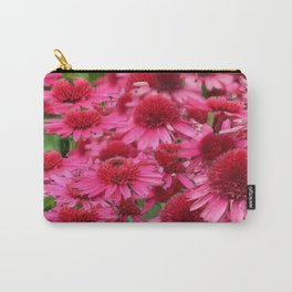 FUCHSIA PINK ECHINACEA GARDEN FLORAL Carry-All Pouch