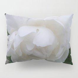Pure White Peony Pillow Sham