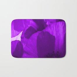 Ultra Violet Poppies #decor #society6 #buyart Bath Mat