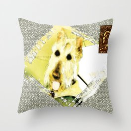 Wheaten Scottish Terrier - During Sickness and Health Throw Pillow