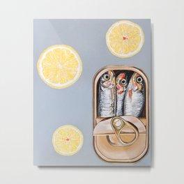 tinned sardines and lemon Metal Print