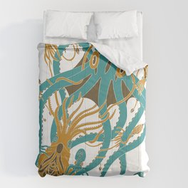 Battle of the Cephalopods Comforters