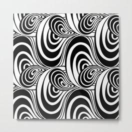 """Koloman (Kolo) Moser """"Textile pattern (Swirls)"""" (4) Metal Print"""
