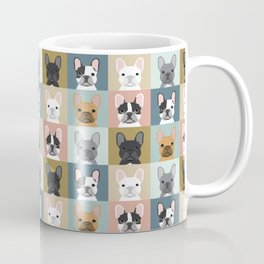 French Bulldog portraits pattern dog person gift love animal pet puppy frenchie bulldog valentines Coffee Mug