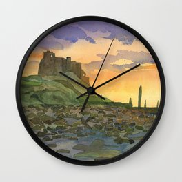 Bamburgh Castle - Northumberland, England Wall Clock